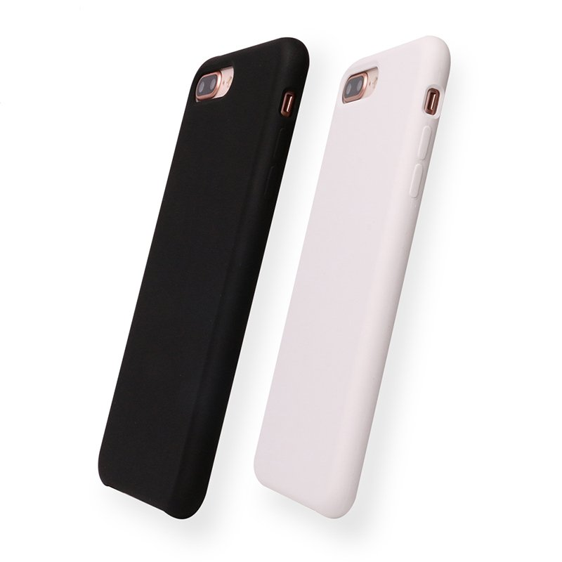 Vserstore 15 Colors High Quality Soft Microfiber Liquid Silicone Phone Case for Iphone 8 PC0002 Iphone Cases image16