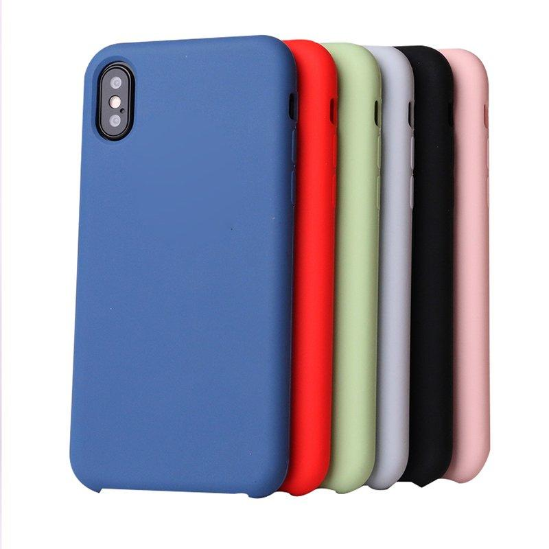 33 Colors Soft-Touch Liquid Silicone Phone Case for Iphone X PC0001
