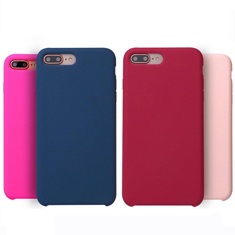 Vserstore 15 Colors Original Liquid Silicone Phone Case for IPhone 7Plus PC0002 Iphone Cases image14