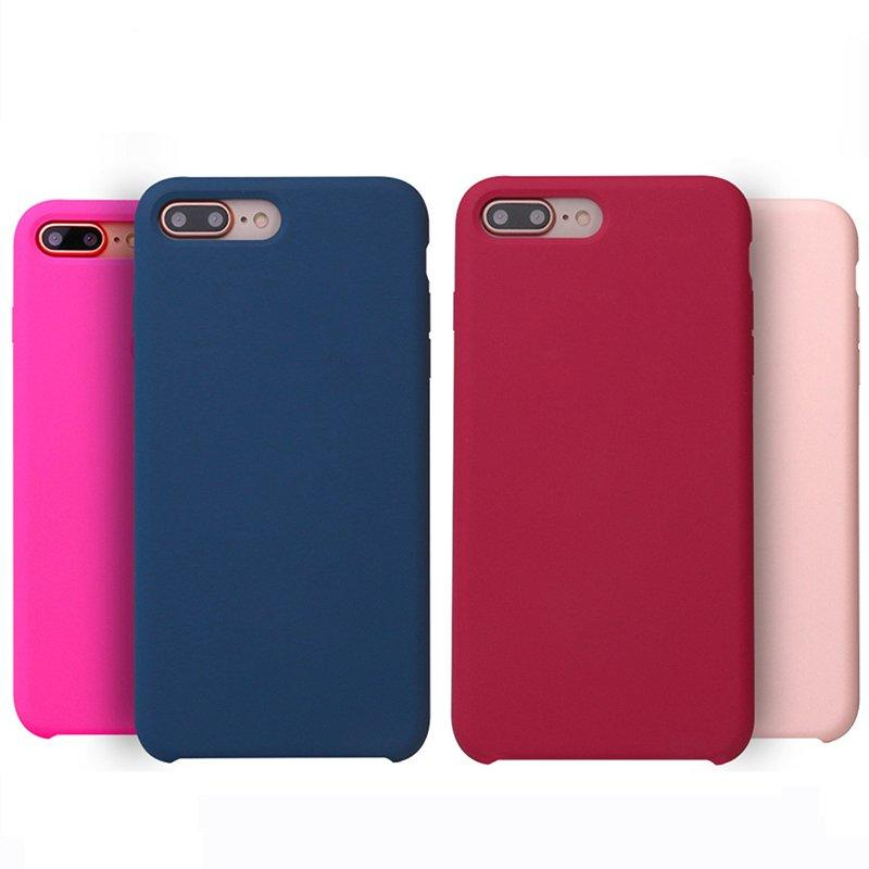 15 Colors Original Liquid Silicone Phone Case for IPhone 7Plus PC0002
