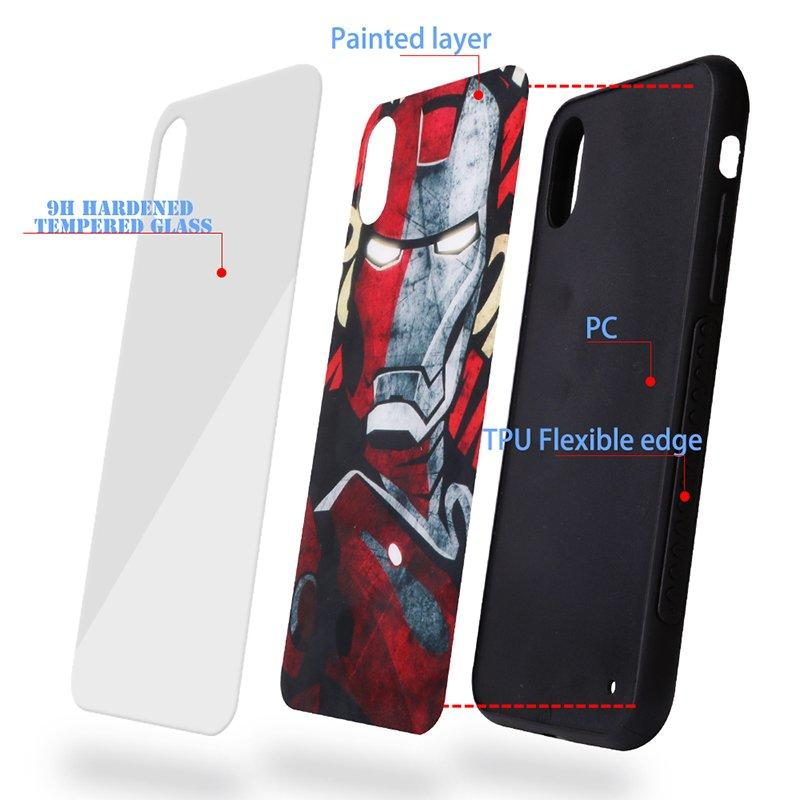 New Tempered Glass Back Cover IPhone X Case PC0004