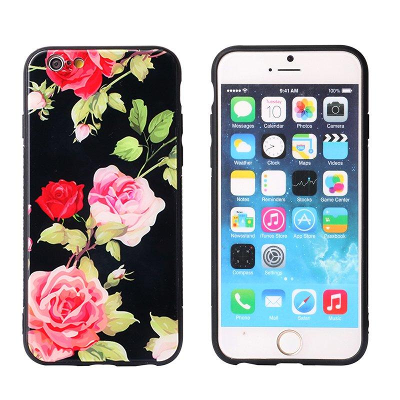 Cute Style Tempered Glass Back Cover IPhone 7 Case PC0004