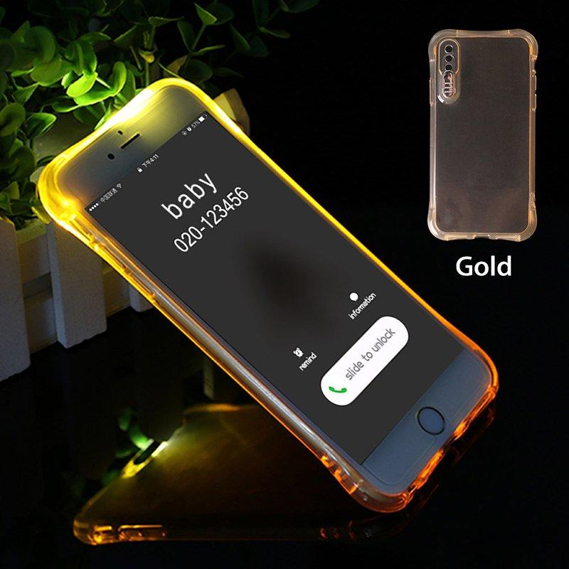 Shockproof Light Up TPU Transparent IPhone 7 Case PC0005