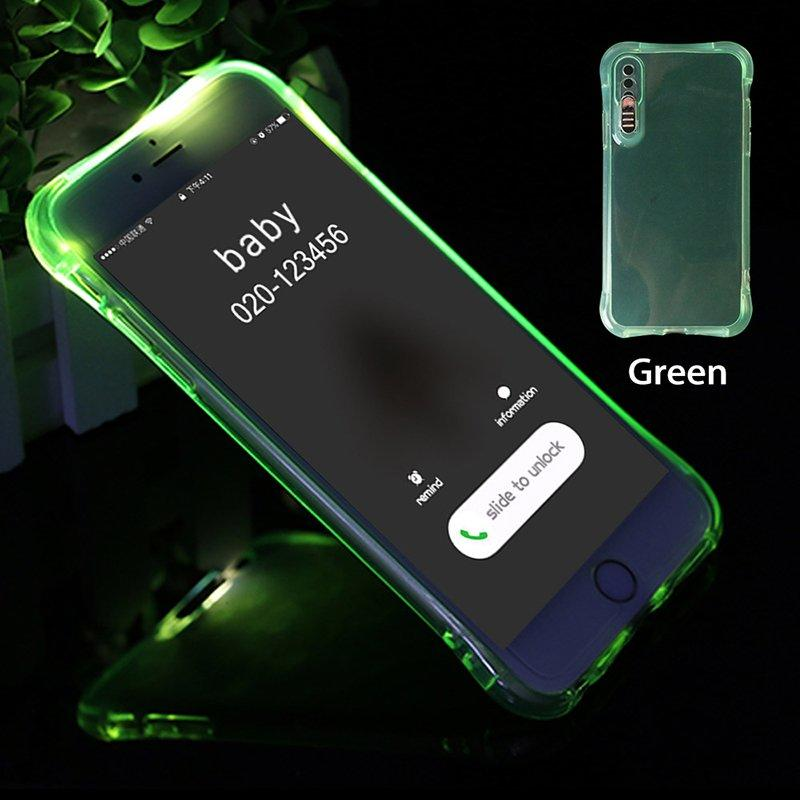 Shockproof Light Up TPU Transparent IPhone 7 Case PC0005