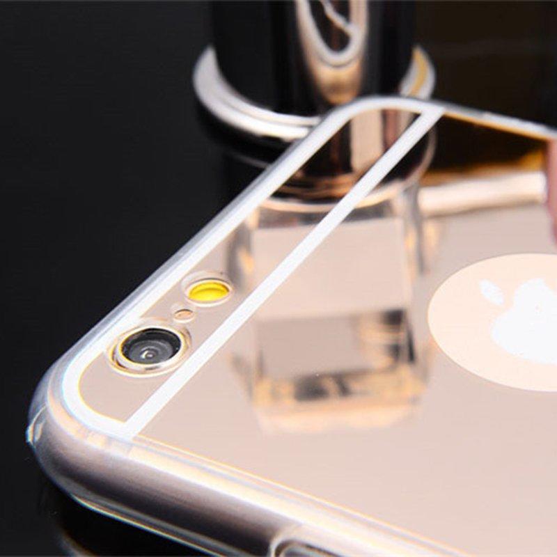 Flash Light up Mirror Black TPU IPhone 6 Case PC0006