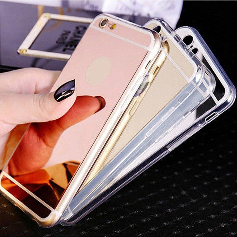 Flash Light up Mirror Black TPU IPhone 6 Case PC0006