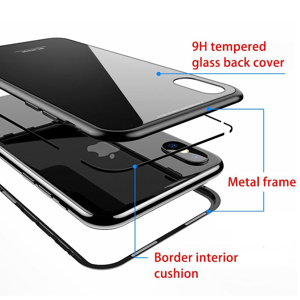360 Degree Full Body Protective Tempered Glass Back Cover Magnetic Phone Case PC0010