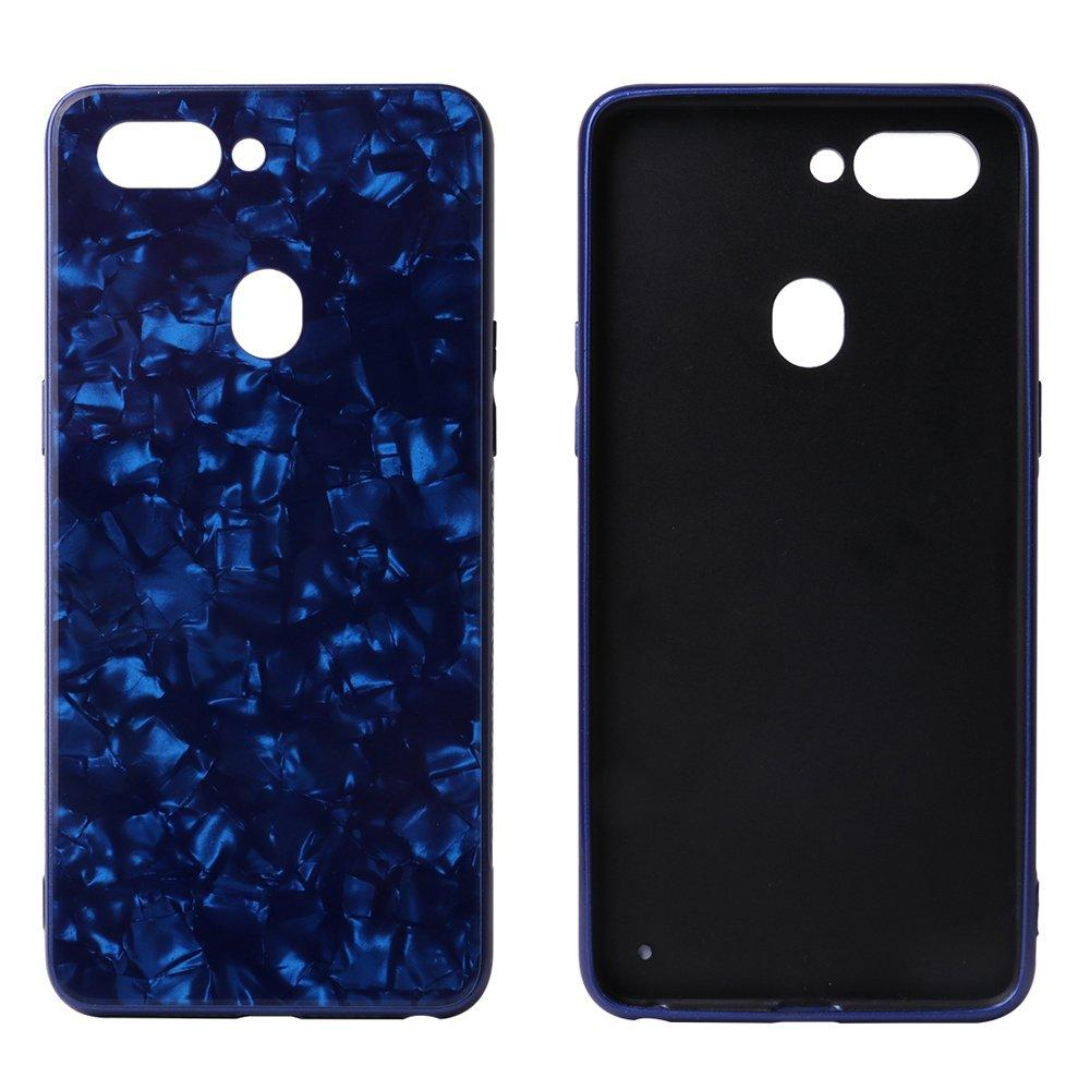 Shell Pattern Tempered Glass Back Cover For Oppo R15 PC0009