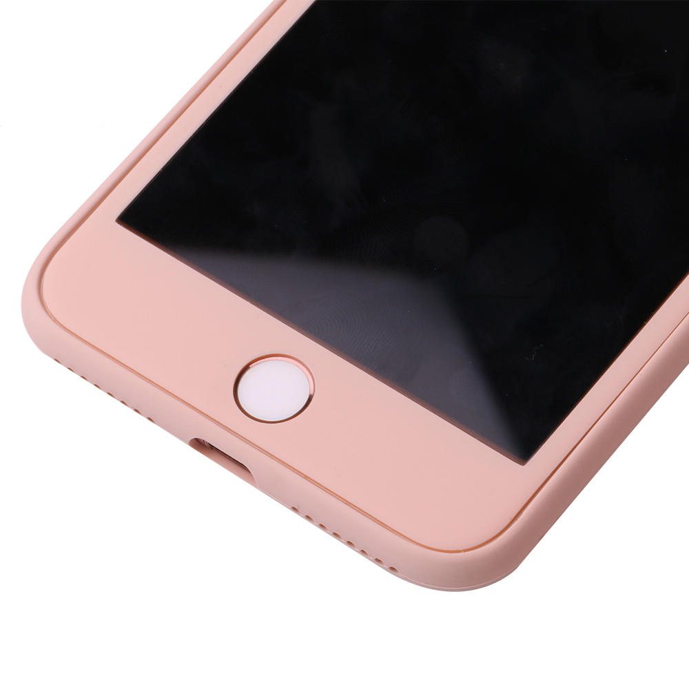 360 Full Body Protective With Tempered Glass Screen Protector Liquid Silicone Phone Case For Iphone PC0010