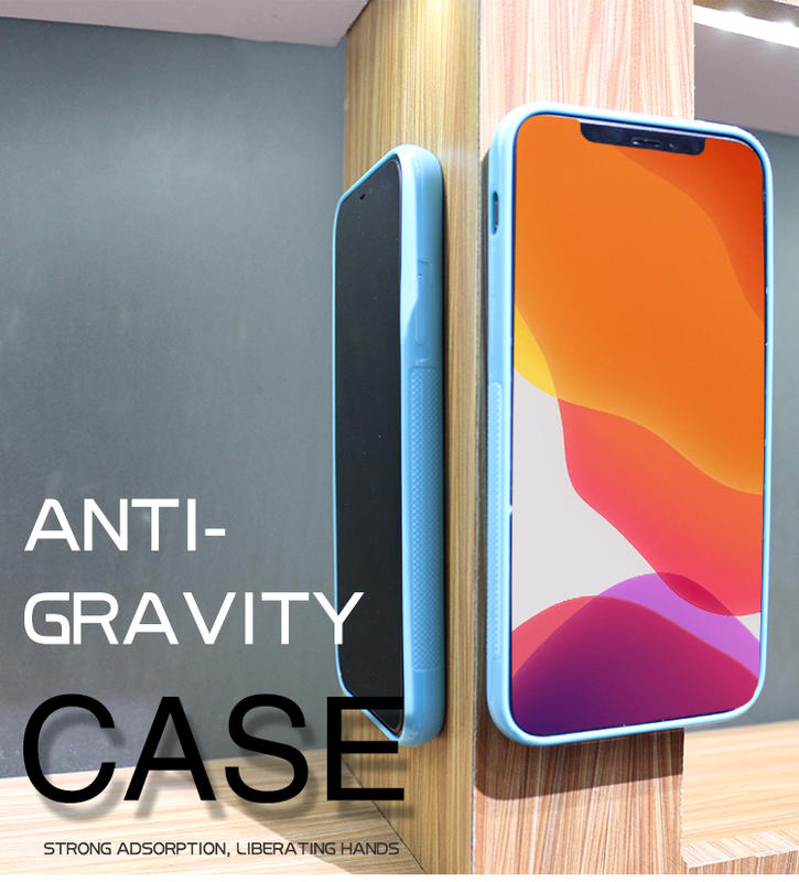 Custom Logo Anti gravity Adsorption Sticky Colorful AntiGravity Cell phone case back cover For iphone 11 pro max case